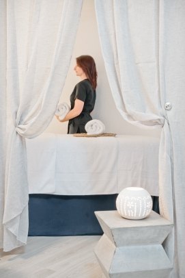 table massage duo fille so well institut canet
